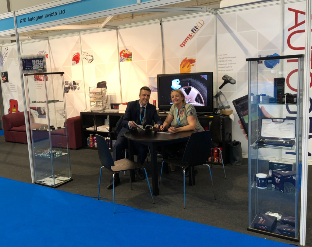 Darren and Sarah, the two Autogem reps in our Automechanika Birmingham booth.